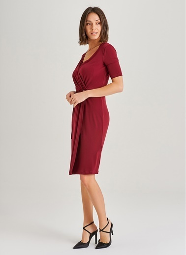 Büzgü Detaylı Elbise-People By Fabrika